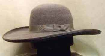 A Planter s or plantation hat. These came with wide and narrow brims  (Courtesy Clearwater Hats) 32f5f6dacd9