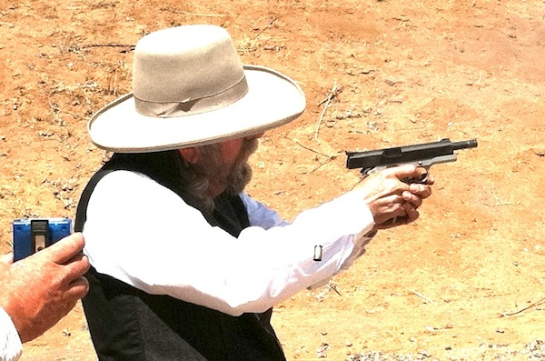 Judge Roy Bean shooting his 1911 in a Wild Bunch Match