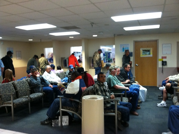 VA Pharmacy waiting room at 1030