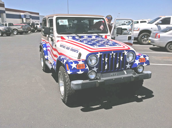 Car show Jeep, Patriotic