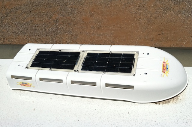 Solar panels in the cover