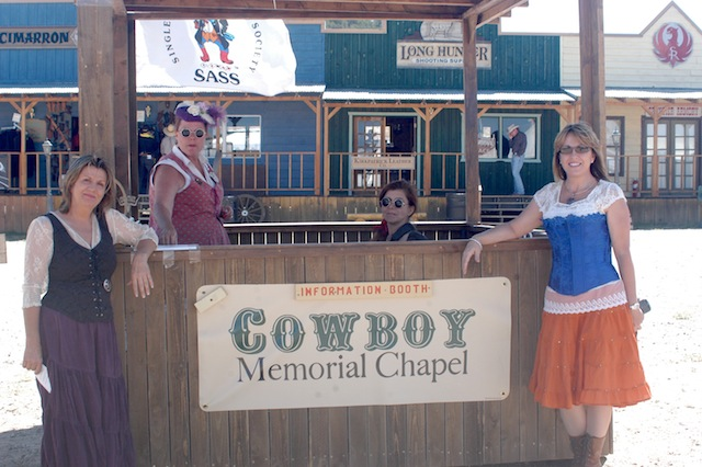 The Cowboy Chapel booth