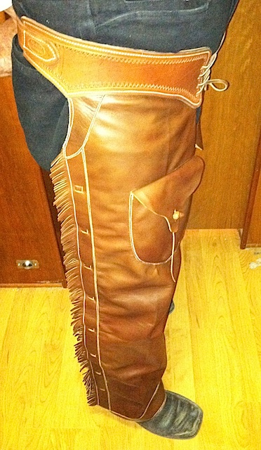 Doc's Old West Chaps, side view