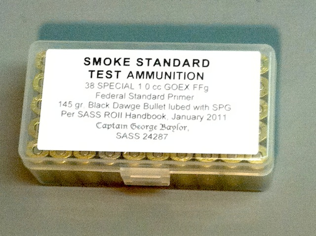 50 rounds of test ammo