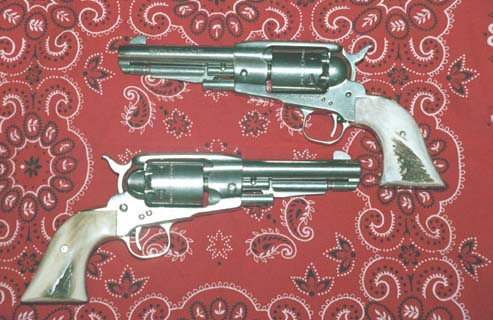"A pair of 5.5"" barreled Stainless Steel Ruger Old Armies"