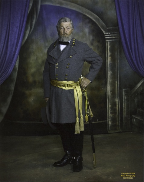 Captain Baylor as Robert E. Lee