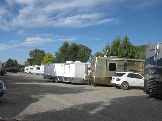 Our parking space at Desert Rose RV Resort