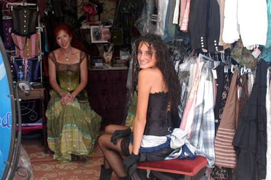 these ladies were selling corsets