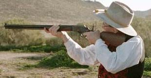 "Marlin Cowboy, 24"" barrel, .45 Colt, with Marble Tang sight"