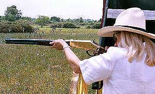 Madame Rose shoots her 1866 Winchester carbine replica