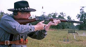 Maverick firing his Cimarron '73 Short Rifle