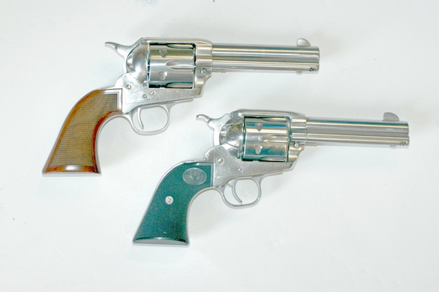 Two guns with lowered hammers