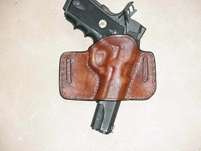 A LoneRider Leather concealment holster fro 1911s