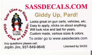 Business Card for SASSdecals.com