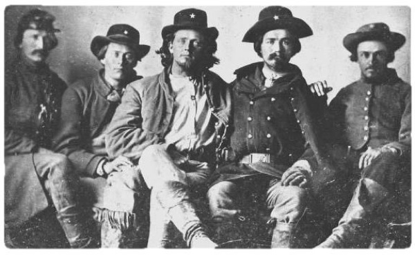 5 Scouts from Terry's Texas Rangers, the 8th Texas Cavalry Regiment