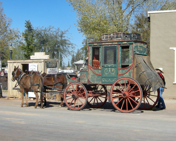One of three Tombstone stage coaches