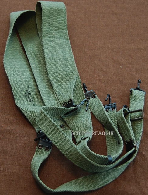 US Pea Green M1907 Equipment suspenders