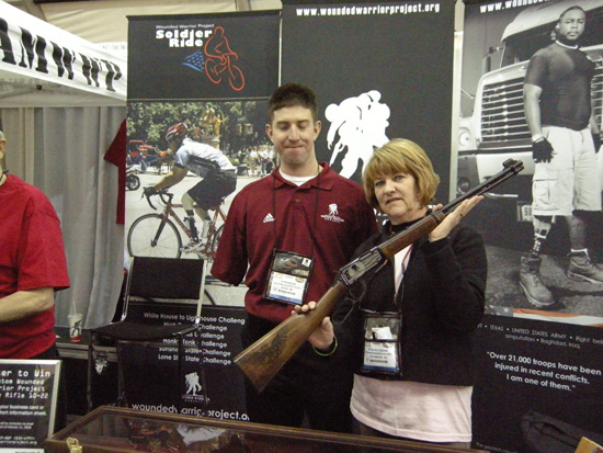 The Wounded Warrior Project was giving away a commemorative Henry 22 donated by Henry Firearms